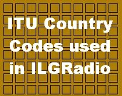 Country Codes used in ILGRadio Database