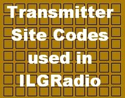 Transmitter Sites Codes in ILGRadio