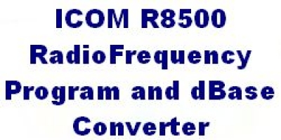 ICOM R8500 Software with special software to convert ILGRadio Files