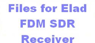 ELAD FDM SDR Receiver with special ILGRadio Files of current season